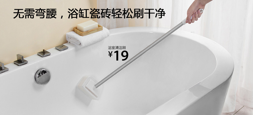 浴室清洁刷头替换装(2块装)